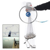 4.2M 14FT Hand Easy Throw Manual Fishing Net Spin Bait Casting Nylon Line Sinker