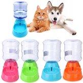 Dispensador automático de bebidas para mascotas de botella grande de 3.5L Perro Gato Plato de tazón de fuente de agua de alimentación