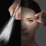 Sobrancelha Cabelo Remoção LED Pinça de sobrancelha Grampo de sobrancelha de aço inoxidável portátil com luz Maquiagem Ferramentas