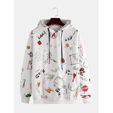 Mens Fashion Multi Patrón Sudadera con estampado en la parte superior