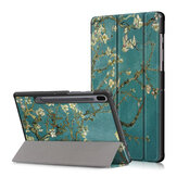 Printing Tri-Fold Tablet Case for Samsung Tab S6 10.5 - Apricot Blossom