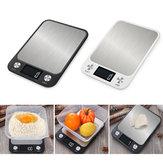 10 किग्रा / 5 किग्रा घरेलू किचन स्केल इलेक्ट्रॉनिक फूड स्केल्स डाइट स्केल मापने का उपकरण स्लिम एलसी