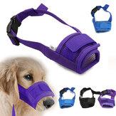 أزياء قابل للتعديل Nylon الكلب كمامة الحيوانات الأليفة جرو شبكة الفم قناع مكافحة العض نباح S-XL