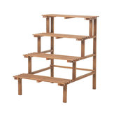 3/4 Tiers Wooden Corner Flower Shelf Indoor Outdoor Plant Stand Pot Rack Garden Office Home Decorations