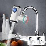 Torneira elétrica Torneira Aquecedor Água Quente Instantânea LED Mostrar Torneira de Cozinha Em Casa de Aquecimento Rápido