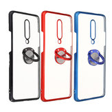 Bakeey Shockproof Plating Bumper With Ring Holder Hard PC Protective Case for OnePlus 7 Pro