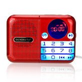 Portable FM Radio 70-108MHZ Power off Memory Digital Display TF Card USB Music Player Speaker