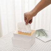 デスクトップ竹カバーティッシュボックスプラスチック鉛筆ペンホルダーリモートコントロール収納ボックス雑貨オーガナイザーオフィスホーム用品