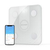 BlitzWolf® BW-SC1 WiFi Smart Body Fat Scale APP Control BMI Data Analysis with 13 Body Metrics Digital Weight Scale