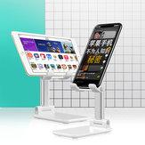 Suporte de tablet para telefone de mesa de liga de alumínio dobrável Bakeey para iPhone ou smartphones 4,0-7,9 polegadas