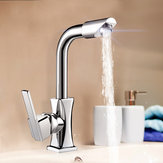 Гибкая хромированная латунь Поворотная промывочная вода Сливная кухонная раковина Однорычажный смеситель Смеситель