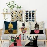 INS Nordic Ananas Kaktus Geometrischen Stil Leinen Kissenbezug Home Sofa Art Decor Sitzkissenbezug