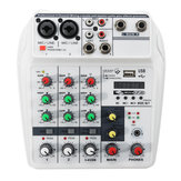 4 Channel صوت Mixer بلوتوث USB Console Studio Sound Mixing Console رقمي
