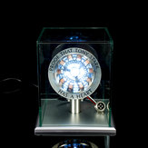 1: 1 Skala MK1 Dirakit Inti DIY Tony Arc Reactor LED Lamp Kit Dengan Display Stand Cover
