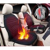 Housse de coussin chauffant auto universel pour voiture chauffant hiver chaud automne double siège noir 12V