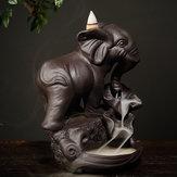 Керамическая Курильница Обратный Конус Водопад Курильница Слон Подарок Украшения