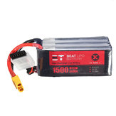BT 22.2V 1500mAh 95C 6S Lipo Battery XT60 Plug for RC Racing Drone