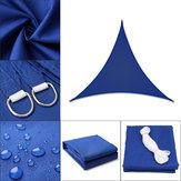 Zwykły trójkąt / prawy trójkąt Niebieski namiot Parasol Żagiel Wodoodporny 280GSM Poliester 300D Oxford Farbic Pokrywa ochronna Dekoracja markizy