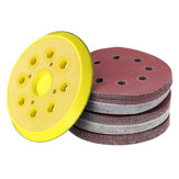 50pcs 125mm 60-240 Grit Sanding Sheet 8 Hole Pads Sandpaper with Polishing Pad