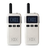 2Pcs KSUN M3 8W 8KM 400-470MHz Radio bidirectionnelle portative Mini Talkie-Walkie 8000mAH Batterie