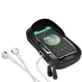 GIYO 6.4Inch Waterproof TPU Bicycle Cycling Phone Bike Bag Handlebar Touchscreen Cellphone Holders Bags With Earphone Hole