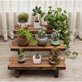 Flower Pot Stand Bench Stool Shelf Storage Shoe Holder Stepped Indoor al aire libre