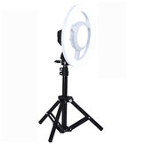 24W 5500K 10 Inch LED Video Ring Light Putaran Selfie Lamp Dengan 50CM Tripod Light Stand
