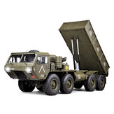 ترقية HG P803A ضوء Sound 1/12 2.4G 8X8 EP RC Car لـ US Army Military Truck 5KG Load سعة w / o البطارية شاحن
