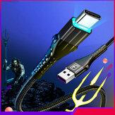 Twitch 3A LED Indicador de carregamento rápido Nylon Cabo de dados trançado Type-C para Samsung S10 HUAWEI P30 Xiaomi 9T Redmi LG