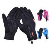 1 Paar Touchscreen Taktische Handschuhe Wintersport Skifahren Handschuhe Reißverschluss Thermische Warme Handschuhe