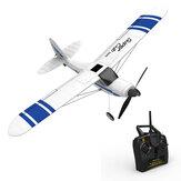 Volantex Süper Cub 500 761-3 500mm Kanat Açıklığı Acemi Kendinden stabilize Dublör RC Uçak 6-Axis Gyro Sistemi ile Sabit Kanat RTF