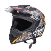 Motorcycle Off Road Lightweight Dirt Bike Helmet Full Face Visor Racing Head Protect Safety