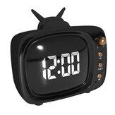 Portable Retro Speaker TV Design Mobile Phone Holder Stand bluetooth Alarm Clock