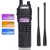 BaoFeng UV-82 VHF UHF 220-260Mhz Amador Two Way Radio portátil Dual Banda Walkie Talkie Ham