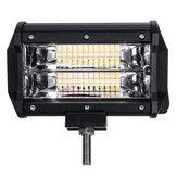 5 Zoll 72W LED Work Light Bar Strobe Flash Lampe Weiß Bernstein Für Geländewagen ATV
