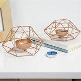 الإبداعية الجوف شمالي 3D هندسية الشاي ضوء ديكور شمعة حامل شمعة