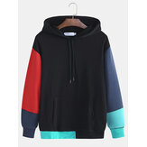 Heren Kleuraanpassing Heren Hooded Hit Color Loose Hooded Fall S