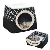 2 in1 Folding Warm Pet Puppy House Pet Mat Dog Cat Bed Cave Sleeping Mat