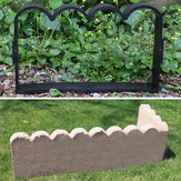 Fence Concrete Mold Brick Cement Mould Garden Path Plastic DIY Tool Courtyard