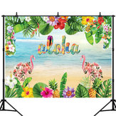 3x5FT 5x7FT Vinyl Hawaii Flamingo Beach Photography Backdrop Background Studio Prop
