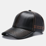 Men Artificial Leather Vintage Baseball Cap