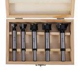 Drillpro 5 pcs Profissional 5 Pcs Conjunto De Broca De Carboneto Forstner 15 20 25 30 35mm Cortador De Rosca De Madeira Para Madeira Buraco Para Ferramentas Elétricas