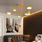33W 6 Head Modern LED Lâmpada de teto para escritório doméstico Lâmpada de abajur acrílico 110V / 220V