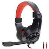 LPS G1 3.5mm + USB Kabel Gaming Headphone Omnidirectional Headset dengan Mikrofon untuk PS4 XBOX