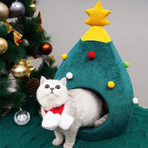 Christmas Tree Cat Litter Kennel Winter Warm Pet Nest Winter Cat House Pet Supplies Pet Bed