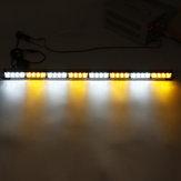 35Inch 32 LED Peringatan Strobe Light Traffic Advisor Emergency Hazard Bar Kuning + Putih