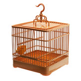 Birds Cage Plastic Hanging Feed Holder Parrot Macaw Pets Carrier Portable Set Bird Net