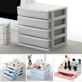 1/2/3/4 Tiers Multilayer Drawer Type Makeup Box Cosmetic Makeup Box  Desktop Organizer Storage Box Display Box