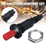 Piezo Spark Juego de encendido Cable pulsador Encendedor Fit Gas BBQ Grill