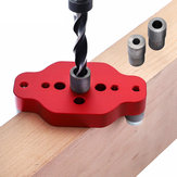 Drillpro Aluminium Alloy Woodworking Self Centering Dowel Jig 6/8/10mm Straight Hole Locator Puncher